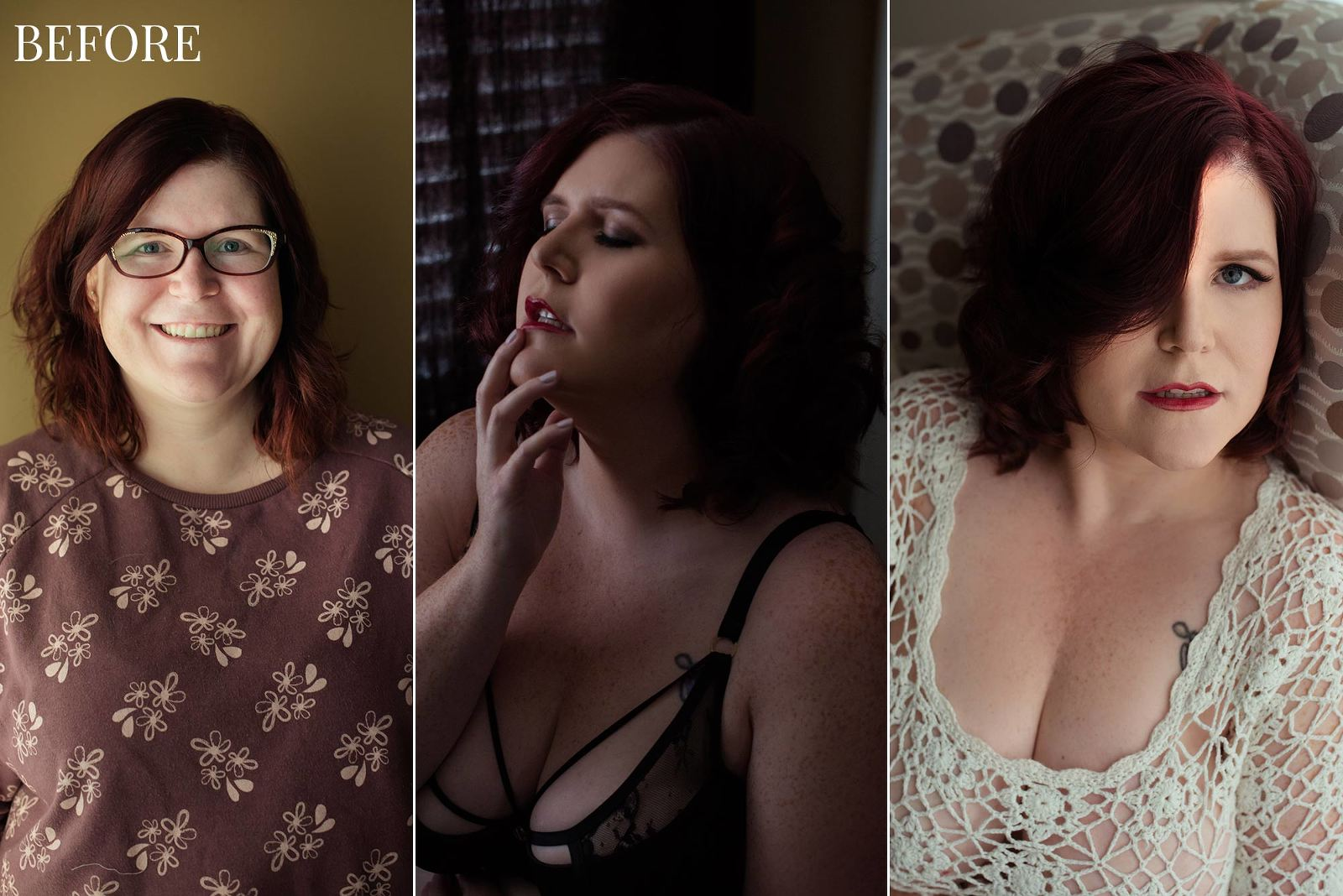 Plus size boudoir photographer, Curvy boudoir photo, Curvy boudoir photo session, Plus size intimate photos, Plus size boudoir photos, Claudia T Photography